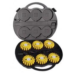 LED Warnleuchten-Koffer Gelb, 6er Set