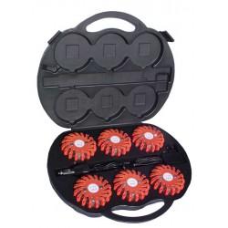 LED Warnleuchten-Koffer Rot, 6er Set